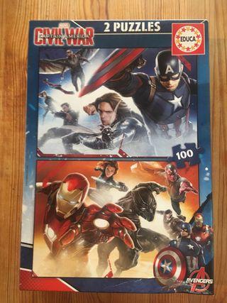2 puzzles Capitan America Civil War