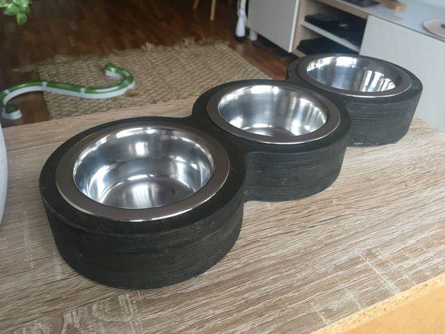 Set comedero lujoso para gatos o o perros pequeños