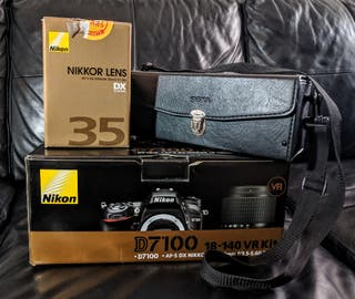 Nikon D7100 + 7 objetivos + extras