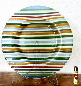 Plato grande pasta de cristal