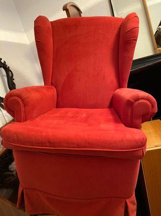 REBAJADO!! sillón/butaca color rojo, poco uso