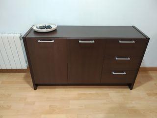 Muebles comedor (aparador + estantería + espejo)