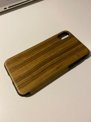 Funda iPhone X madera.