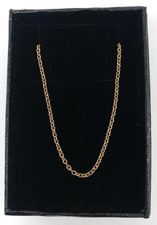 Cadena oro 60 cms