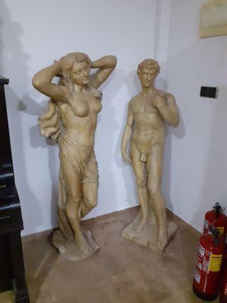 esculturas para jardín , pareja