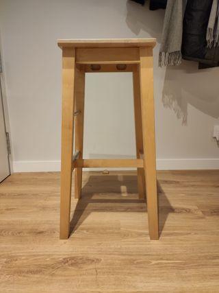 taburete alto madera 74cm