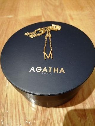 Collar letra M Agatha París original
