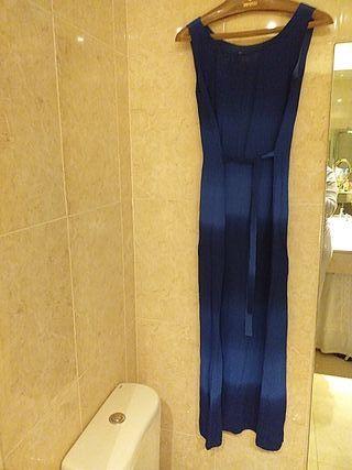 ESPECIAL FIESTA!! Vestido largo con chaqueta azul