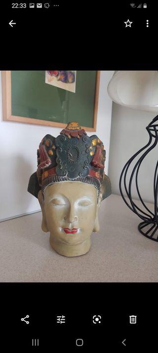 estatua cabeza diosa