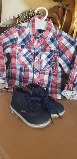 Camisa y botas para bebé ( 6 a 15 meses.