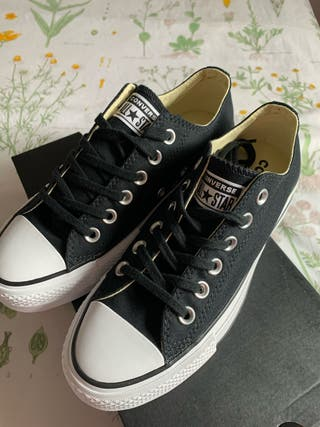 converse mujer negras 36