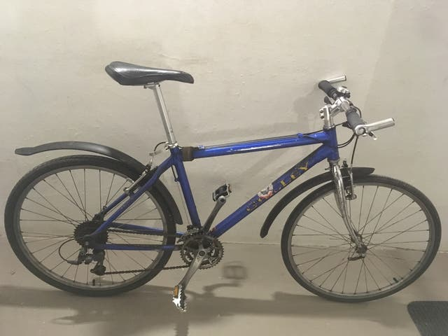 Bicicleta montaña y bicicleta urbana