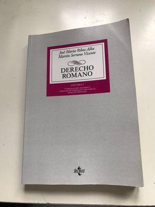 Libro Derecho Romano José María Ribas Alba
