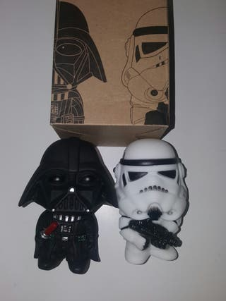muñeco Darth Vader y Stormtrooper star wars