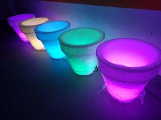 Macetas con luz
