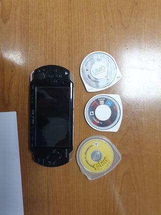 PSP más 3 juegos