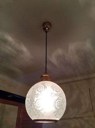 lámpara globo vintage