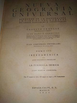 Nueva Geografía Universal. Año 1929. Espasa
