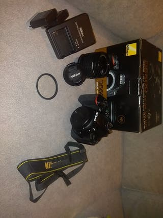 Reflex Nikon D5600 + objetivo todoterreno