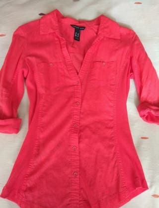 camisa mango talla xs impecable
