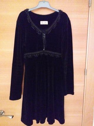 Vestido corto fiesta terciopelo negro