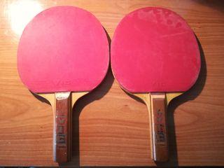 Juego de 2 palas de ping pong