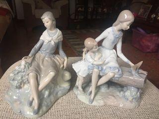 Lote 2 figuras porcelana Nao