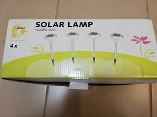 lámparas solares de jardin
