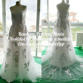 Oferta ! Vestido de novia a medida .Alta costura .