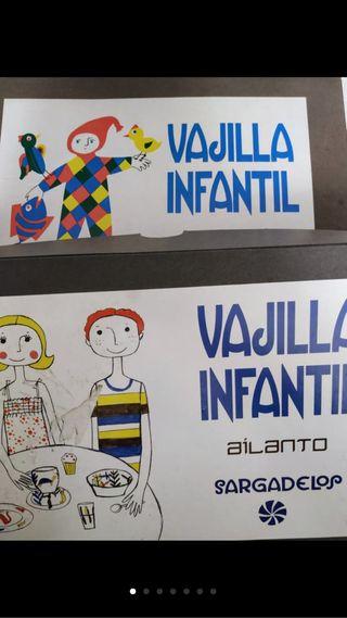NUEVA - Vajilla infantil de Sagardelos de Ailanto
