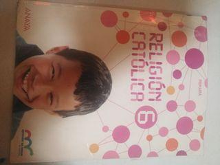 libro religión 6° primaria