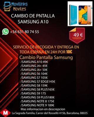 PANTALLA SAMSUNG A10 100%ORIGINAL GARANTIA 6MESES