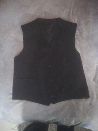 chaleco de traje negro