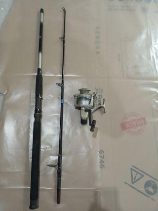 caña de pescar + carrete