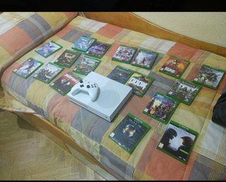 Xbox one + mando + 19 juegos