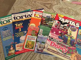 Colección 5 revistas pasó a paso decoracion tartas