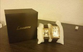 Pareja de relojes Lausanne
