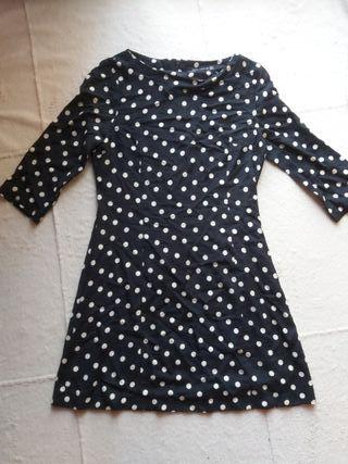 Vestido corto de lunares de Zara Woman
