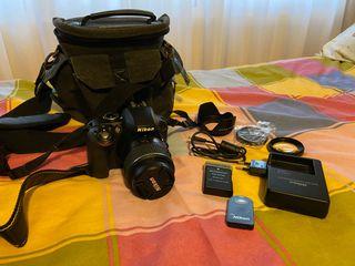 Se vende cámara Nikon D3300 + complementos