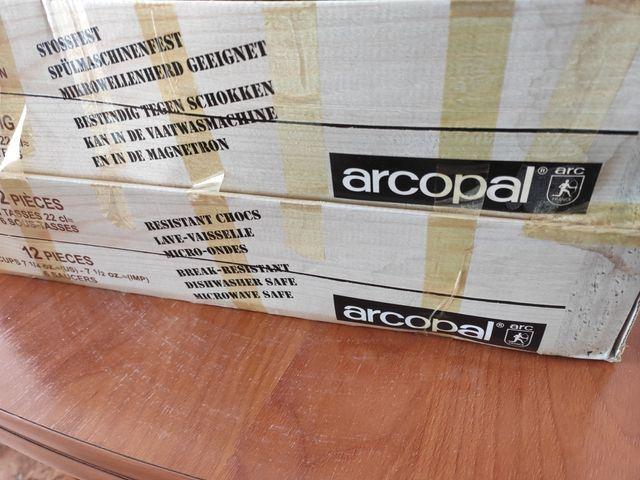"""Tazas con plato """"Arcopal"""" nuevas"""