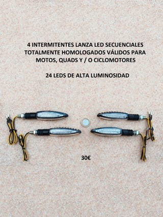 4 intermitentes led lanza dinámicos
