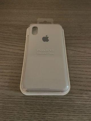 Funda iPhone X/XS gris claro