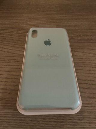 Funda iPhone XS Max celeste