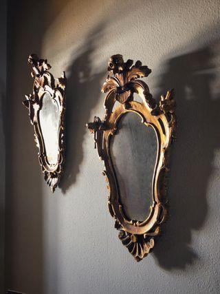 Cornucopias espejos antiguos s. XIX