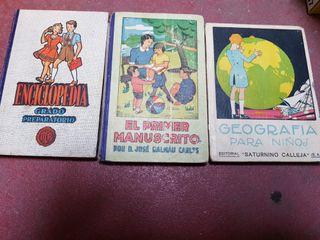 Libros escolares antiguos