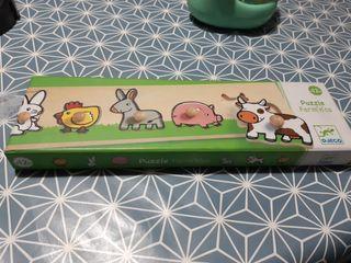 puzzle madera animales
