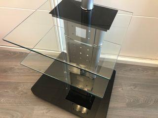 Mesa televisión (cristal con ruedas)