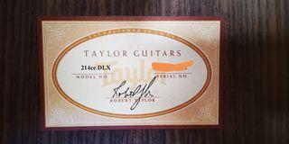 VENDO guitarra TAYLOR 214 ce DLX