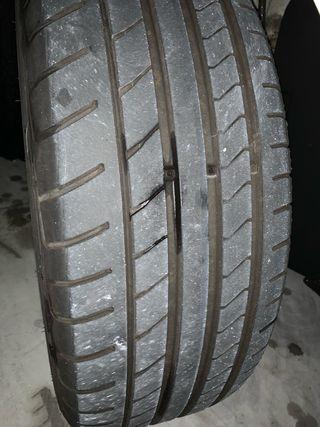 Neumáticos usados desparejados