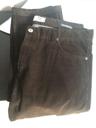 Pantalones Pana Hombre Talla 48